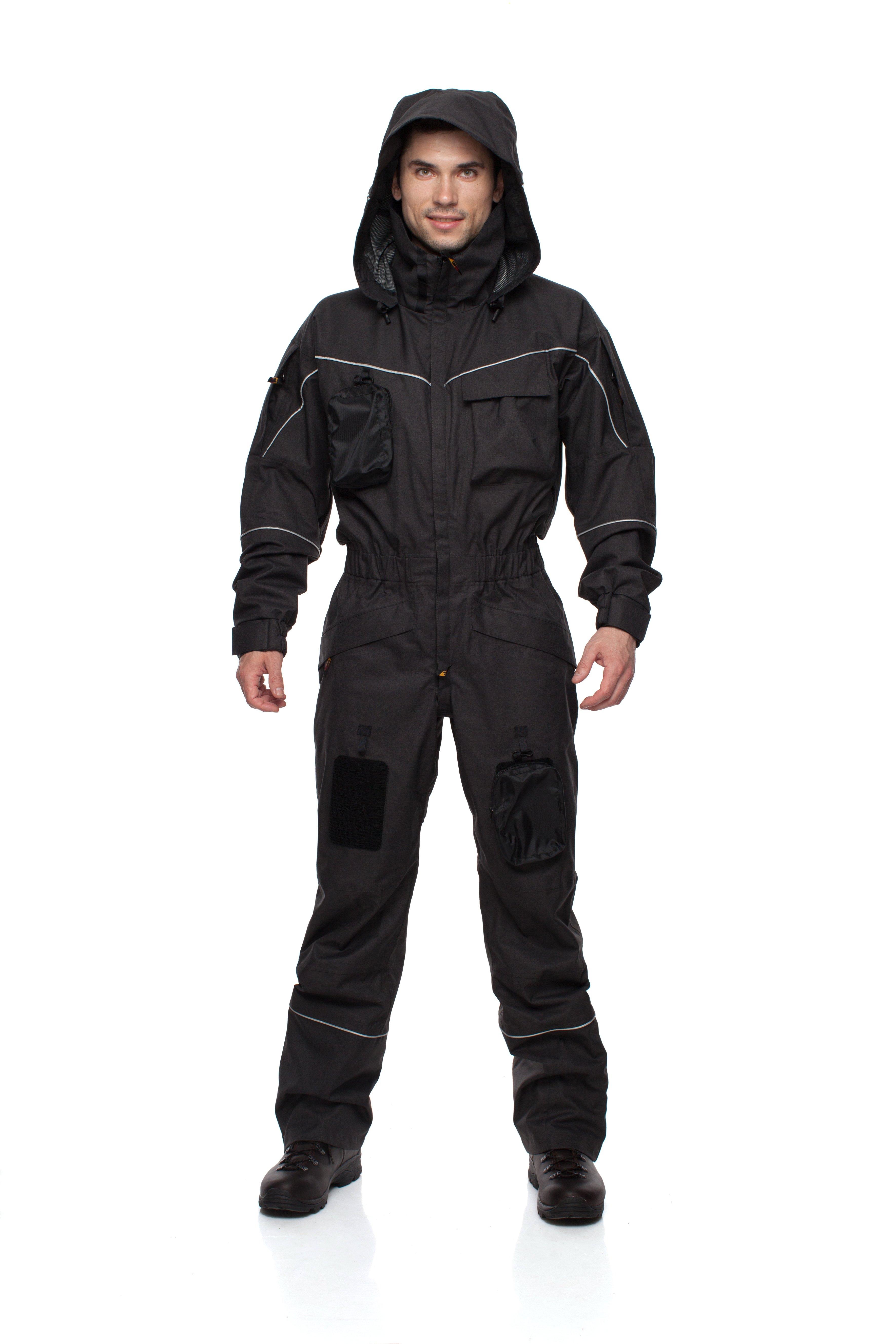 Комбинезон BASK WORKER SUIT 1193Комбинезоны и костюмы<br>Непромокаемый мембранный комбинезон для высотных работ, разработанный промальпинистами и для промальпинистов.<br><br>Анатомический покрой локтевого сгиба и зоны коленей: Нет<br>Верхняя ткань: Advance® Alaska Soft Melange<br>Вес граммы: 1800<br>Влагозащитные свойства: Да<br>Внутренние манжеты: Нет<br>Капюшон: Несъемный<br>Количество карманов: 9<br>Наличие мембраны: Да<br>Отстегивающийся задний клапан: Нет<br>Пол: Унисекс<br>Регулировка манжетов рукавов: Застежки Velcro<br>Регулировка пояса: Нет<br>Регулируемые бретели: Нет<br>Регулируемые вентиляционные отверстия: Да<br>Светоотражающая лента: Да<br>Снегозащитные муфты: Да<br>Съемные защитные вкладыши: Нет<br>Технология Thermal Welding: Нет<br>Тип молнии: Двухзамковая<br>Ткань усиления: Нет<br>Усиление контактных зон: Нет<br>Усиление швов закрепками: Да<br>Размер RU: 54<br>Цвет: ЧЕРНЫЙ