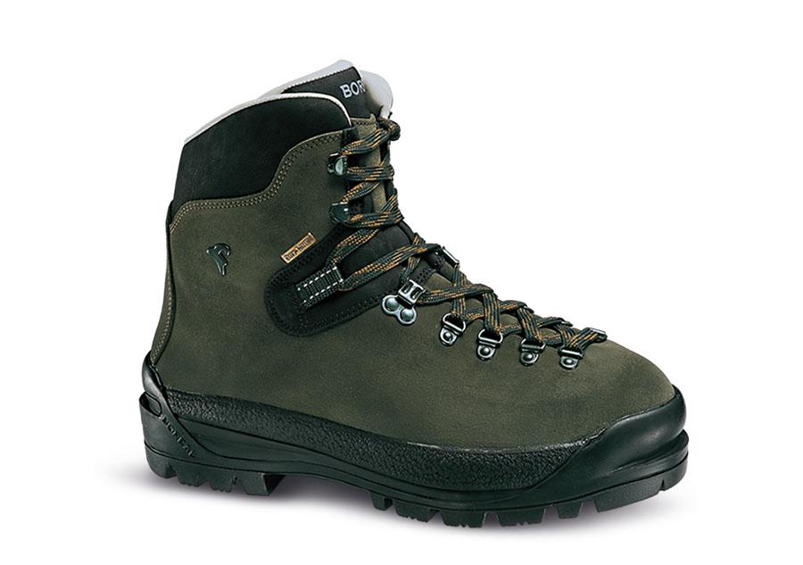 Ботинки Boreal ASAN VERDE b47304Горные ботинки для перемещения по ледникам и снежным кулуарам.<br><br>Вентиляция стельки: Да<br>Вес пары размера 7 UK: 1807<br>Материал верха: Split Leather 2,6 мм<br>Мембрана: Sympatex<br>Подошва: Boreal Mount FDS-3<br>Пол: Унисекс<br>Промежуточная подошва: тройная<br>Размер (Россия): Указан российский размер<br>Рант для крепления &quot;кошек&quot;: Да<br>Режим эксплуатации: Предназначены для использования в условиях сильной заснеженности и альпинистских маршрутов<br>Система виброгашения: Да<br>Система отвода влаги: Boreal Dry Line<br>Цельнокроеный верх: Да<br>Размер RU: 11<br>Цвет: КОРИЧНЕВЫЙ