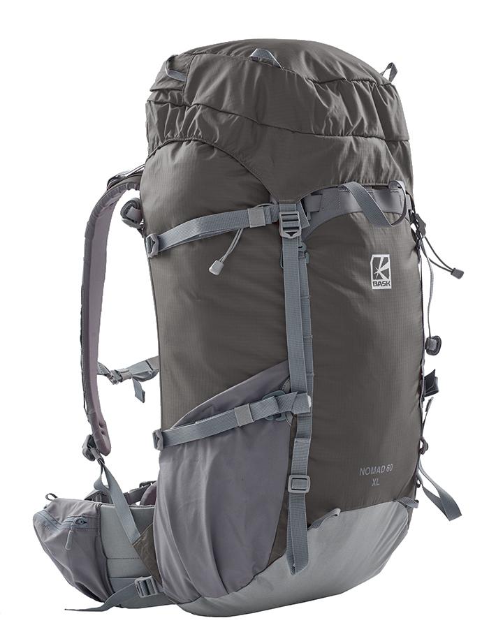 Рюкзак БАСК NOMAD 60 M 1467Рюкзаки<br>Туристический рюкзак с высокой несущей способностью объемом 60 л.В качестве элементов вертикальной жесткости в спинке используются две вертикальные съемные латы из профилированного высокопрочного алюминиевого сплава. Имеется возможность подгибать латы под спину конкретного пользователя. Также в спину по всей площади встроена пластина из вспененного полиэтилена высокой жесткости. Эргономичный пояс позволяет эффективно переносить вес рюкзака на кости таза. Латы входят непосредственно в пояс, предотвращая сокращение длины спины рюкзака под нагрузкой и тем самым позволяя комфортно переносить большой вес в рюкзаке.NOMAD — это новая серия прочных туристических рюкзаков объемом 60, 75 и 90 л. Для каждого объема есть два варианта спины: М и XL, а также пояс двух размеров.<br><br>Анатомическая конструкция спины и ремней: Да<br>Вентиляция спины: Нет<br>Вес граммы: 1750<br>Вес съёмного клапана: 175<br>Внутренние карманы: Нет<br>Внутренняя перегородка: Нет<br>Возможность крепления сноуборда/скейтборда/лыж: Нет<br>Грудной фиксатор: Да<br>Карман для гидратора: Нет<br>Карман для средств связи: Нет<br>Карманы на поясе: Да<br>Клапан: Съемный<br>Минимальный вес: 1060<br>Назначение: Альпинизм, туризм, треккинг<br>Накидка от дождя: Нет<br>Наружная навеска: Возможность навески дополнительного снаряжения снизу и по бокам<br>Наружные карманы: Да<br>Нижний вход: Нет<br>Объем л.: 60<br>Пол: Унисекс<br>Регулировка объема: Да<br>Регулировка угла наклона пояса: Да<br>Светоотражающий кант: Да<br>Система подвески: Система подвески регулируется<br>Ткань: 210D Robic® Double Rip UTS<br>Усиление: 330 D Robic® Kodra UTS<br>Усиление дна: Да<br>Фурнитура: W.J., Duraflex, YKK®<br>Цвет: ОРАНЖЕВЫЙ