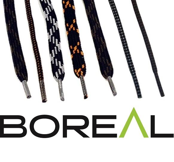 Шнурки Boreal WALK черный/серый 1м округлые B613Разные аксессуары<br><br><br>Материал изготовления: Полиамид<br>Размеры: 130