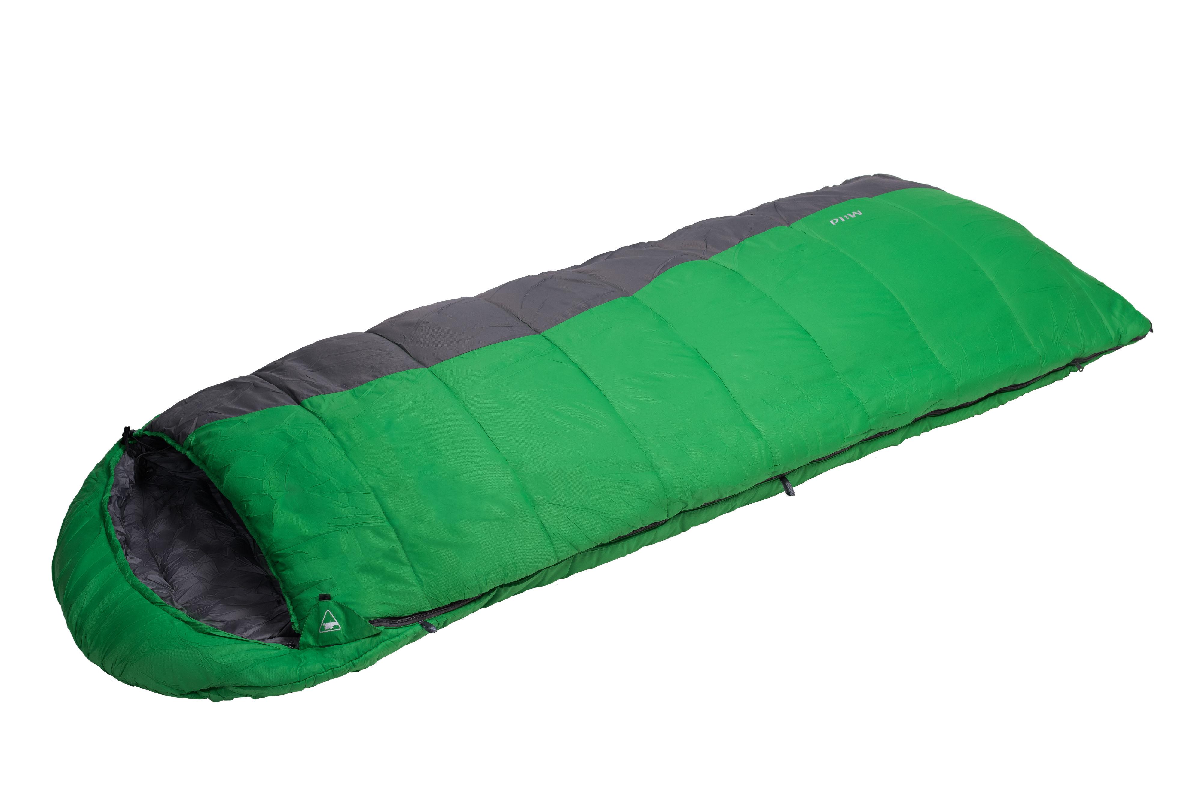 Спальный мешок BASK MILD 5975Спальник одеяло с подголовником до -15 &amp;deg;C, с двумя слоями утеплителя Thermolite&amp;reg; Extra. Поперечная молния позволяет трансформировать спальный мешок в одеяло.<br><br>Верхняя ткань: Nylon 30D Diamond Rip stop<br>Вес без упаковки: 1760<br>Вес упаковки: 110<br>Внутренняя ткань: Pongee®<br>Количество слоев утеплителя: 2<br>Назначение: туристический<br>Наличие карманов: Да<br>Наполнитель: синтетический<br>Подголовник/Капюшон: Да<br>Пол: унисекс<br>Размер в упакованном виде (диаметр х длина): 21х41<br>Размеры наружные (внутренние): 235x200x90<br>Система расположения слоев утеплителя или пуховых пакетов: продольная<br>Температура комфорта °C: 5<br>Тесьма вдоль планки: Да<br>Тип молнии: разъемная<br>Тип утеплителя: синтетический<br>Утеплитель: Thermolite Extra (Dupont)<br>Утепляющая планка: Да<br>Форма: одеяло<br>Шейный пакет: Да<br>Экстремальная температура °C: -15<br>Размер RU: R<br>Цвет: ЗЕЛЕНЫЙ