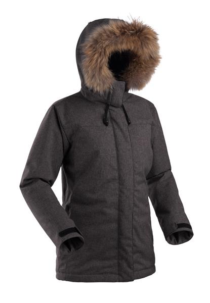 Куртка BASK AGIDEL 8203Тёплая зимняя женская куртка в стиле &amp;laquo;аляска&amp;raquo; подойдет для использования в городе и за его пределами.<br><br>Верхняя ткань: Advance® Alaska Soft Melange<br>Вес граммы: 1240<br>Ветро-влагозащитные свойства верхней ткани: Да<br>Ветрозащитная планка: Да<br>Ветрозащитная юбка: Нет<br>Влагозащитные молнии: Нет<br>Внутренние манжеты: Нет<br>Внутренняя ткань: Advance® Classic<br>Дублирующий центральную молнию клапан: Да<br>Защитный козырёк капюшона: Нет<br>Капюшон: несъемный<br>Карман для средств связи: Нет<br>Количество внешних карманов: 4<br>Количество внутренних карманов: 2<br>Мембрана: да<br>Объемный крой локтевой зоны: Нет<br>Отстёгивающиеся рукава: Нет<br>Пол: Жен.<br>Проклейка швов: Нет<br>Регулировка манжетов рукавов: Да<br>Регулировка низа: Да<br>Регулировка объёма капюшона: Да<br>Регулировка талии: Нет<br>Регулируемые вентиляционные отверстия: Нет<br>Световозвращающая лента: Нет<br>Температурный режим: -15<br>Технология Thermal Welding: Нет<br>Тип молнии: двухзамковая<br>Тип утеплителя: синтетический<br>Усиление контактных зон: Нет<br>Утеплитель: Shelter® Sport<br>Размер INT: L<br>Цвет: СЕРЫЙ