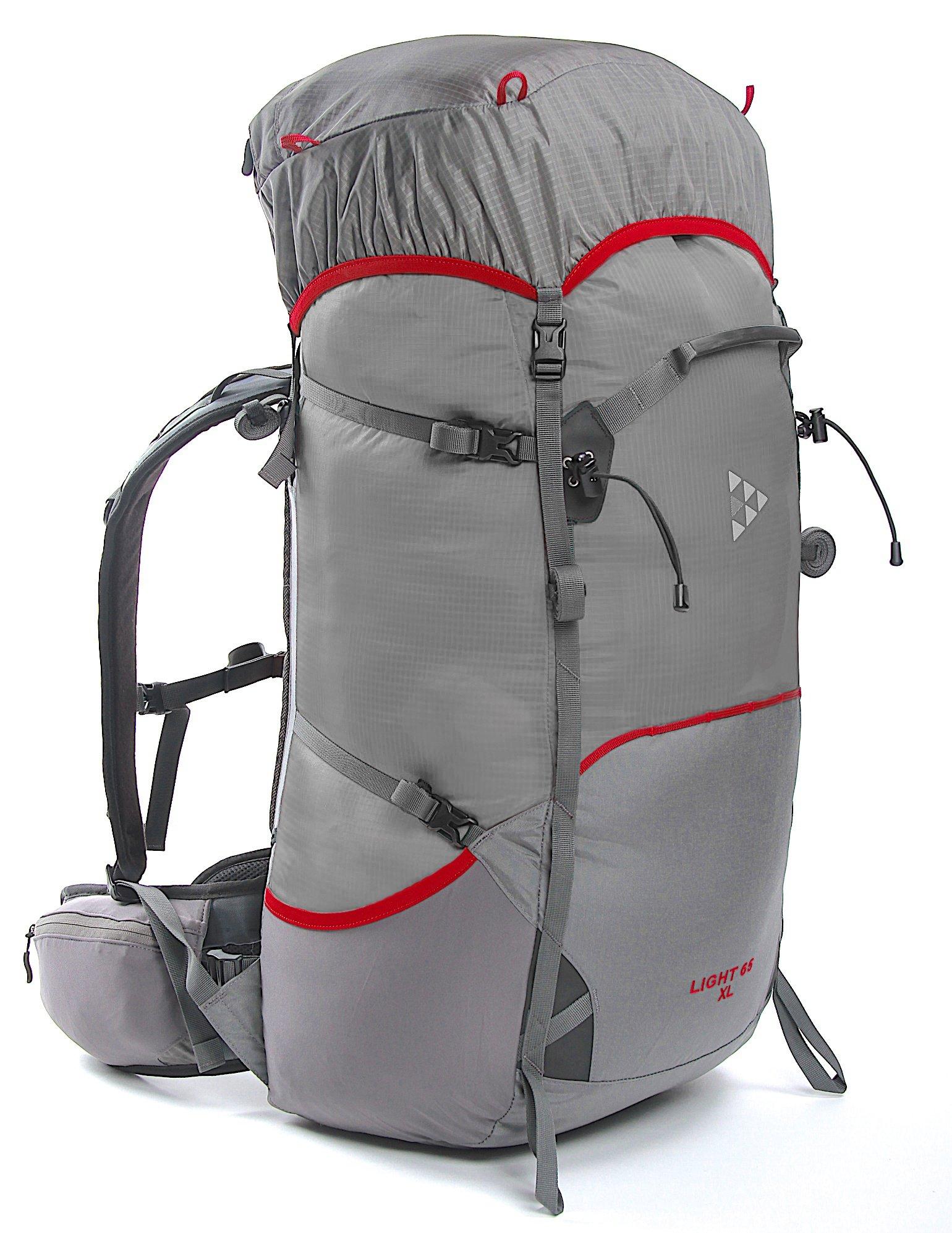 Рюкзак BASK LIGHT 65 M 5200Рюкзаки<br>Лёгкий спортивный рюкзак 65 литров для туризма, спорта и отдыха. Высокий тубус, лямки с мягким ребром не натирают шею и ключицу.<br><br>Анатомическая конструкция спины и ремней: Да<br>Вентиляция спины: Да<br>Вес граммы: 1214<br>Вес коврика: 0.158<br>Вес съёмного клапана: 0.128<br>Внутренние карманы: Да<br>Внутренняя перегородка: Нет<br>Возможность крепления сноуборда/скейтборда/лыж: Нет<br>Грудной фиксатор: Да<br>Карман для гидратора: Нет<br>Карман для средств связи: Нет<br>Карманы на поясе: Да<br>Клапан: Съемный<br>Минимальный вес: 0.695<br>Назначение: Треккинг<br>Накидка от дождя: Нет<br>Наружная навеска: Навесная система позволяет крепить специальное снаряжение<br>Наружные карманы: Да<br>Нижний вход: Нет<br>Объем л.: 65<br>Регулировка объема: Да<br>Регулировка угла наклона пояса: Нет<br>Светоотражающий кант: Нет<br>Система подвески: Система подвески регулируется<br>Ткань: 100D Robic® Triple Rip 2000 мм Н2О UTS<br>Усиление: 210Dx420D  Robic® Kodra<br>Усиление дна: Да<br>Фурнитура: W.J., YKK®