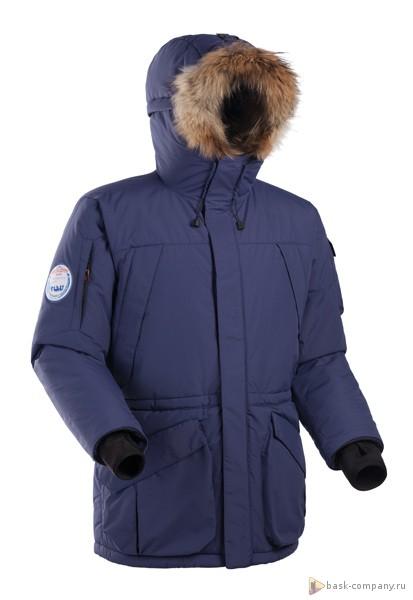 Куртка BASK SHL ANTARCTIC 5243Очень тёплая и практичная зимняя куртка для экстремальных условий.<br><br>Верхняя ткань: Nylon Supplex<br>Вес граммы: 2060<br>Ветро-влагозащитные свойства верхней ткани: Да<br>Ветрозащитная планка: Да<br>Ветрозащитная юбка: Да<br>Влагозащитные молнии: Нет<br>Внутренние манжеты: Да<br>Внутренняя ткань: Resist-DT®<br>Водонепроницаемость: 3000<br>Дублирующий центральную молнию клапан: Да<br>Защитный козырёк капюшона: Нет<br>Капюшон: несъемный<br>Карман для средств связи: Нет<br>Количество внешних карманов: 6<br>Количество внутренних карманов: 4<br>Мембрана: да<br>Объемный крой локтевой зоны: Нет<br>Отстёгивающиеся рукава: Нет<br>Паропроницаемость: 3000<br>Пол: Муж.<br>Проклейка швов: Нет<br>Регулировка манжетов рукавов: Нет<br>Регулировка низа: Нет<br>Регулировка объёма капюшона: Да<br>Регулировка талии: Да<br>Регулируемые вентиляционные отверстия: Нет<br>Световозвращающая лента: Нет<br>Температурный режим: -30<br>Технология Thermal Welding: Нет<br>Технология швов: простые<br>Тип молнии: двухзамковая<br>Тип утеплителя: синтетический<br>Ткань усиления: нет<br>Усиление контактных зон: Нет<br>Утеплитель: ShelterSport ®<br>Размер RU: 52<br>Цвет: СИНИЙ