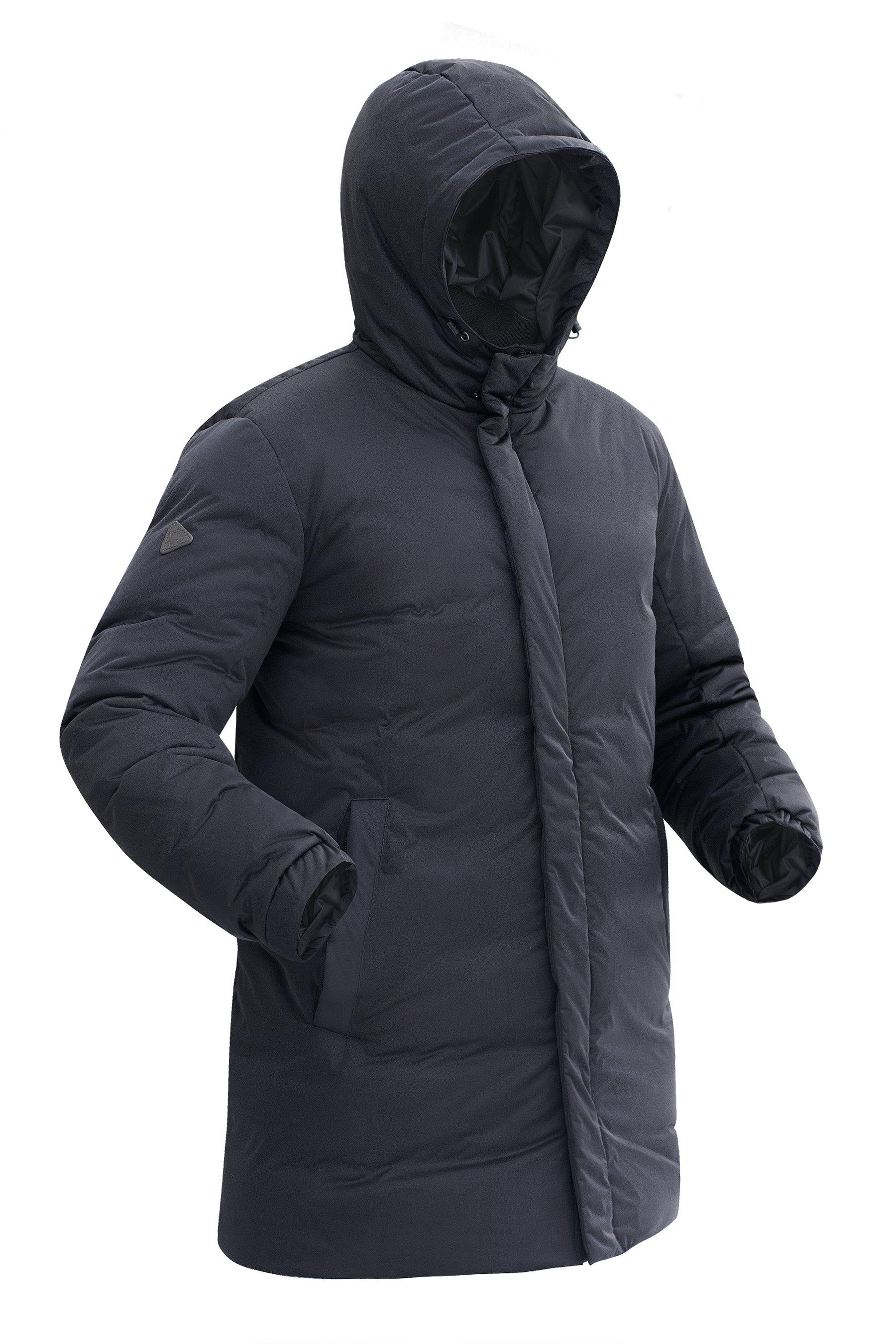 Пуховая куртка BASK ICEBERG LUX 5451Куртки<br><br><br>Верхняя ткань: Advance® Lux<br>Вес граммы: 950<br>Ветро-влагозащитные свойства верхней ткани: Нет<br>Ветрозащитная планка: Да<br>Ветрозащитная юбка: Нет<br>Влагозащитные молнии: Нет<br>Внутренние манжеты: Нет<br>Внутренняя ткань: Advance® Classic<br>Водонепроницаемость: 10000<br>Дублирующий центральную молнию клапан: Да<br>Защитный козырёк капюшона: Нет<br>Капюшон: Несъемный<br>Карман для средств связи: Нет<br>Количество внешних карманов: 2<br>Количество внутренних карманов: 2<br>Мембрана: Да<br>Объемный крой локтевой зоны: Нет<br>Отстёгивающиеся рукава: Нет<br>Паропроницаемость: 20000<br>Показатель Fill Power (для пуховых изделий): 700<br>Пол: Мужской<br>Проклейка швов: Нет<br>Регулировка манжетов рукавов: Да<br>Регулировка низа: Нет<br>Регулировка объёма капюшона: Да<br>Регулировка талии: Нет<br>Регулируемые вентиляционные отверстия: Нет<br>Световозвращающая лента: Нет<br>Технология Thermal Welding: Нет<br>Технология швов: Простые<br>Тип молнии: Двухзамковая<br>Тип утеплителя: Натуральный<br>Усиление контактных зон: Нет<br>Утеплитель: Гусиный пух<br>Размер RU: 54<br>Цвет: ЧЕРНЫЙ