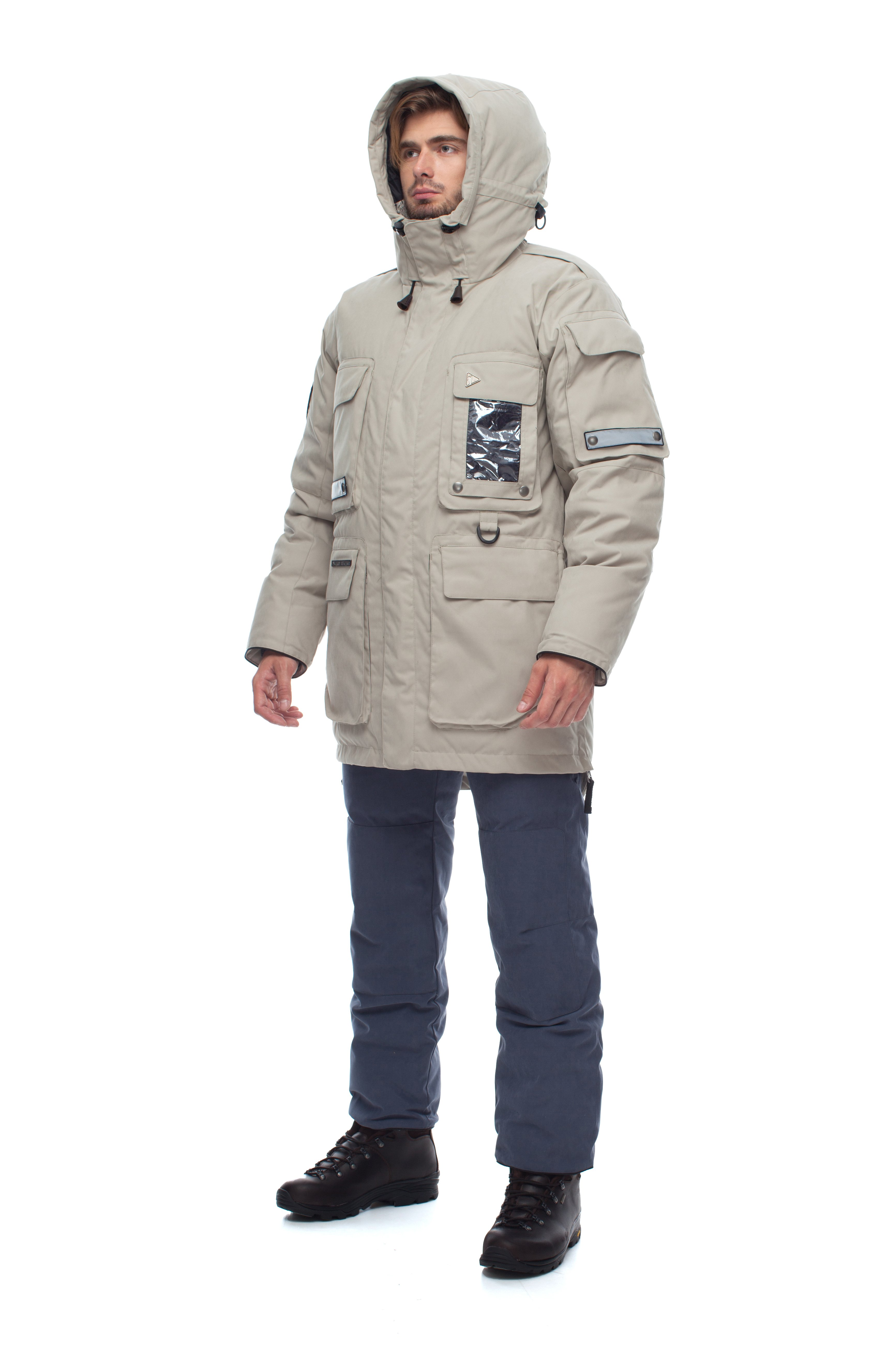 Пуховая куртка BASK YAMAL 3772Мужская пуховая куртка была разработана для промышленных и коммерческих работ в самых холодных районах планеты и для суровых зимних условий.<br><br>Верхняя ткань: Advance® Alaska<br>Вес граммы: 2725<br>Ветро-влагозащитные свойства верхней ткани: Да<br>Ветрозащитная планка: Да<br>Ветрозащитная юбка: Да<br>Влагозащитные молнии: Нет<br>Внутренние манжеты: Да<br>Внутренняя ткань: Advance® Classic<br>Водонепроницаемость: 5000<br>Дублирующий центральную молнию клапан: Да<br>Защитный козырёк капюшона: Нет<br>Капюшон: несъемный<br>Карман для средств связи: Да<br>Количество внешних карманов: 7<br>Количество внутренних карманов: 6<br>Мембрана: да<br>Объемный крой локтевой зоны: Да<br>Отстёгивающиеся рукава: Нет<br>Паропроницаемость: 5000<br>Показатель Fill Power (для пуховых изделий): 650<br>Пол: Муж.<br>Проклейка швов: Нет<br>Регулировка манжетов рукавов: Нет<br>Регулировка низа: Нет<br>Регулировка объёма капюшона: Да<br>Регулировка талии: Да<br>Регулируемые вентиляционные отверстия: Нет<br>Световозвращающая лента: Да<br>Температурный режим: -40<br>Технология Thermal Welding: Нет<br>Технология швов: простые<br>Тип молнии: двухзамковая<br>Тип утеплителя: натуральный<br>Усиление контактных зон: Да<br>Утеплитель: гусиный пух<br>Размер RU: 48<br>Цвет: БЕЖЕВЫЙ