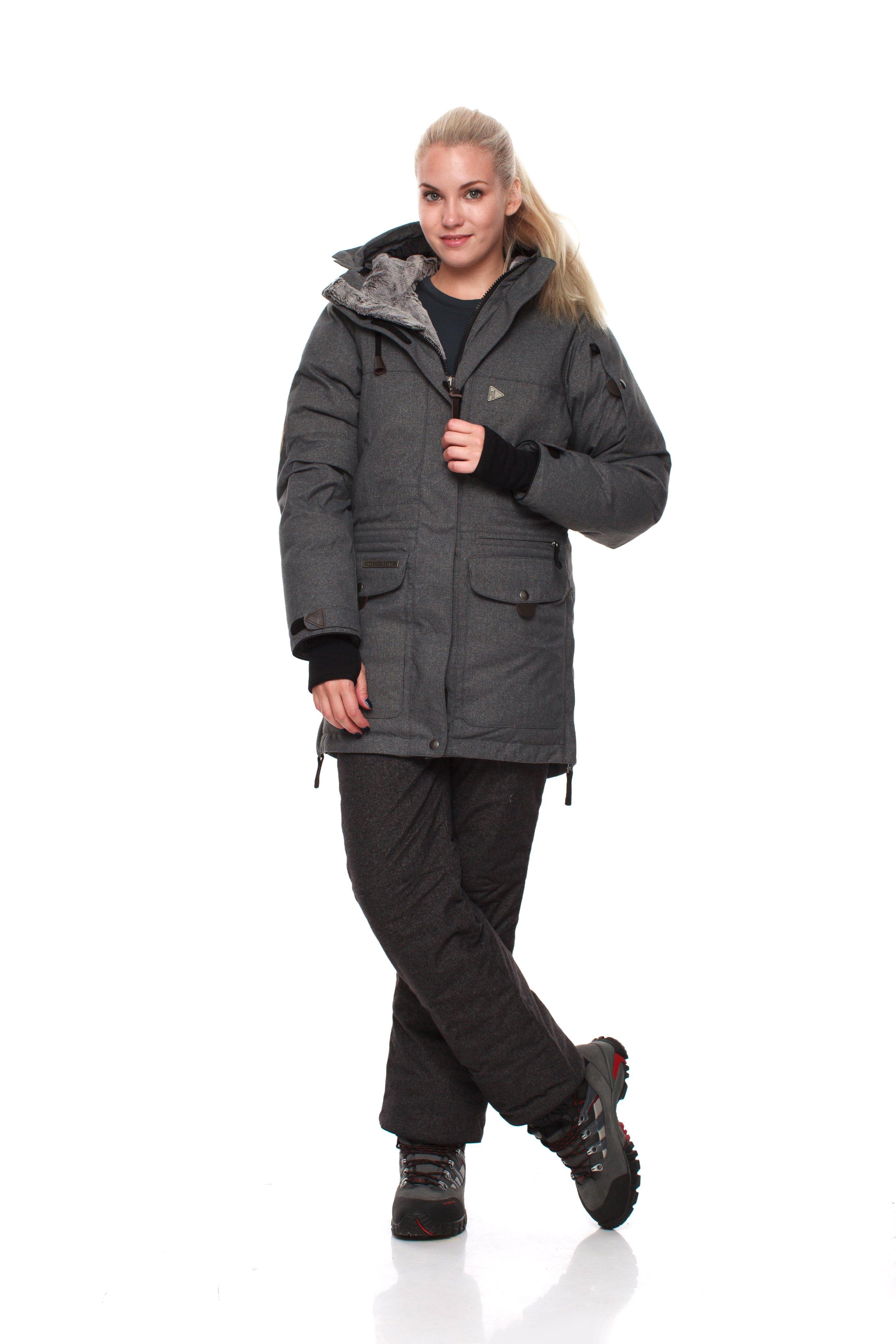 Пуховая куртка BASK IREMEL SOFT 3778AКуртки<br>Теплая женская зимняя пуховая куртка в стиле парка BASK IREMEL SOFT с мембранной тканью и температурным режимом -30 °С.<br><br>&quot;Дышащие&quot; свойства: Да<br>Верхняя ткань: Advance® Alaska Soft Melange<br>Вес граммы: 1950<br>Вес утеплителя: 420<br>Ветро-влагозащитные свойства верхней ткани: Да<br>Ветрозащитная планка: Да<br>Ветрозащитная юбка: Да<br>Влагозащитные молнии: Нет<br>Внутренние манжеты: Да<br>Внутренняя ткань: Advance® Classic<br>Водонепроницаемость: 5000<br>Дублирующий центральную молнию клапан: Да<br>Защитный козырёк капюшона: Нет<br>Капюшон: Несъемный<br>Карман для средств связи: Нет<br>Количество внешних карманов: 8<br>Количество внутренних карманов: 2<br>Мембрана: Да<br>Объемный крой локтевой зоны: Да<br>Отстёгивающиеся рукава: Нет<br>Паропроницаемость: 10000<br>Показатель Fill Power (для пуховых изделий): 650<br>Пол: Женский<br>Проклейка швов: Нет<br>Регулировка манжетов рукавов: Да<br>Регулировка низа: Нет<br>Регулировка объёма капюшона: Да<br>Регулировка талии: Нет<br>Регулируемые вентиляционные отверстия: Нет<br>Световозвращающая лента: Нет<br>Температурный режим: -30<br>Технология Thermal Welding: Нет<br>Технология швов: Простые<br>Тип молнии: Двухзамковая<br>Тип утеплителя: Натуральный<br>Ткань усиления: Нет<br>Усиление контактных зон: Нет<br>Утеплитель: Гусиный пух<br>Размер INT: S<br>Цвет: СЕРЫЙ