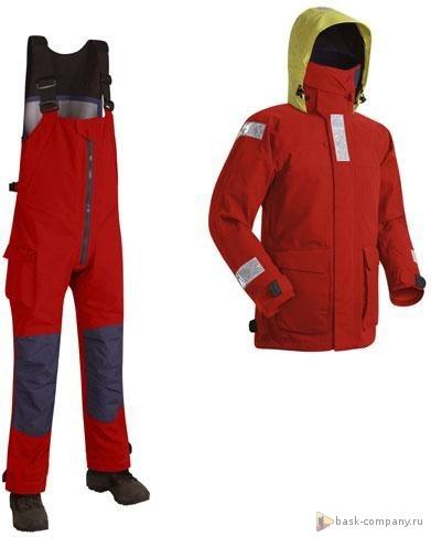 Костюм BASK OFFSHORE SUIT 3881Яхтенная одежда из мембранной ткани Gelanots&amp;reg; Sea Pro.<br><br>Анатомический покрой локтевого сгиба и зоны коленей: Да<br>Верхняя ткань: Gelanots ® Sea Pro<br>Влагозащитные свойства: Да<br>Внутренние манжеты: Да<br>Водостойкость: 20000<br>Капюшон: убирается в воротник<br>Количество карманов: 6<br>Наличие мембраны: Да<br>Отстегивающийся задний клапан: Нет<br>Пол: Унисекс<br>Регулировка манжетов рукавов: манжеты на Velcro<br>Регулировка пояса: Нет<br>Регулируемые бретели: Да<br>Регулируемые вентиляционные отверстия: Да<br>Светоотражающая лента: Да<br>Снегозащитные муфты: Нет<br>Съемные защитные вкладыши: Да<br>Технология Thermal Welding: Нет<br>Тип молнии: двухзамковая<br>Тип шва: проклеены<br>Ткань усиления: Cordura<br>Усиление контактных зон: Да<br>Усиление швов закрепками: Нет<br>Утеплитель: не применимо<br>Размер RU: 50<br>Цвет: СИНИЙ