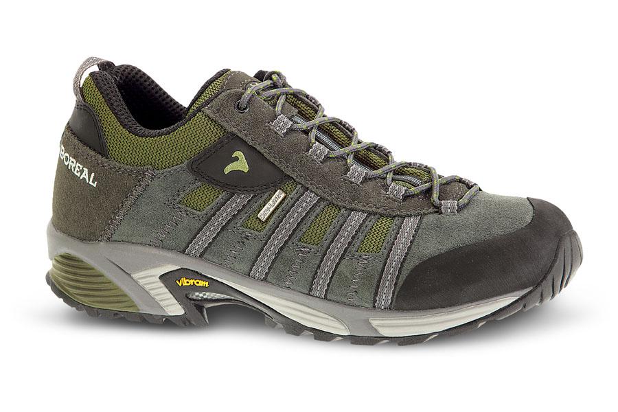 Кроссовки Boreal AZTEC B31787Легкие дышащие и водонепроницаемые кроссовки для прогулок и путешествий. Кожаный верх со вставками из материала Teramida/ SL. Встроенный язычок и резиновая защита мыска.<br><br>Вес пары размера 7 UK: 926<br>Мембрана: Система Boreal Dry-Line®<br>Подошва: Vibram Skyrunning<br>Пол: Муж.<br>Промежуточная подошва: Boreal PXF<br>Режим эксплуатации: легкий треккинг, прогулки, путешествия<br>Система виброгашения: Да<br>Система отвода влаги: Boreal Dry Line<br>Утеплитель: нет<br>Размер RU: 10<br>Цвет: ЗЕЛЕНЫЙ