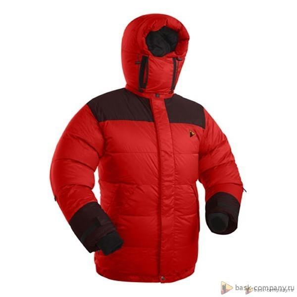 Куртка BASK KHAN TENGRI V5 3324aЗнаменитый зимний пуховик из коллекции BASK. Куртка модифицирована в соответствии с пожеланиями опытных туристов. Побывала на всех восьмитысячниках планеты!<br><br>Верхняя ткань: Resist-DT(R) EXTREME<br>Вес граммы: 1400<br>Вес утеплителя: 450<br>Ветро-влагозащитные свойства верхней ткани: Нет<br>Ветрозащитная планка: Да<br>Ветрозащитная юбка: Да<br>Влагозащитные молнии: Нет<br>Внутренние манжеты: Да<br>Внутренняя ткань: Nylon Tactel<br>Водонепроницаемость: 1500<br>Дублирующий центральную молнию клапан: Да<br>Защитный козырёк капюшона: Нет<br>Капюшон: отстегивается<br>Карман для средств связи: Да<br>Количество внешних карманов: 3<br>Количество внутренних карманов: 2<br>Мембрана: Resist-DT(R) EXTREME<br>Объемный крой локтевой зоны: Да<br>Отстёгивающиеся рукава: Нет<br>Паропроницаемость: 1500<br>Показатель Fill Power (для пуховых изделий): 780<br>Пол: Муж.<br>Проклейка швов: Нет<br>Регулировка манжетов рукавов: Да<br>Регулировка низа: Да<br>Регулировка объёма капюшона: Да<br>Регулировка талии: Да<br>Регулируемые вентиляционные отверстия: Нет<br>Световозвращающая лента: Нет<br>Температурный режим: -35<br>Технология Thermal Welding: Нет<br>Технология швов: теплые и закрытые<br>Тип молнии: двухзамковая<br>Тип утеплителя: натуральный<br>Ткань усиления: Resist-DT(R) EXTREME<br>Усиление контактных зон: Да<br>Утеплитель: гусиный пух<br>Размер RU: 60<br>Цвет: ЧЕРНЫЙ