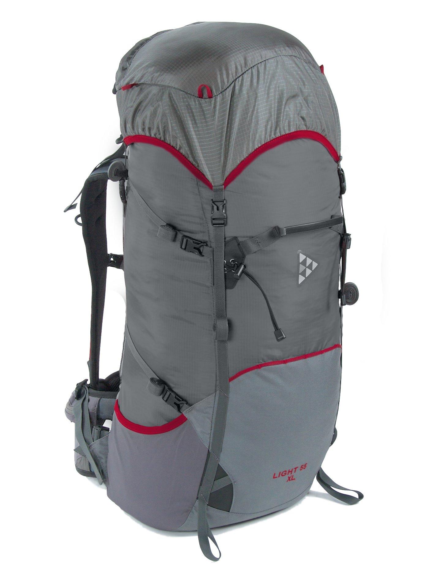 Рюкзак BASK LIGHT 55 M 5204Легкий туристический рюкзак объемом 55 литров из серии LIGHT, подойдет для легкоходов и любителей легкого снаряжения и там где нужен минимальный вес изделия.<br><br>Анатомическая конструкция спины и ремней: Да<br>Вентиляция спины: Да<br>Вес граммы: 1146<br>Вес коврика: 0.138<br>Вес съёмного клапана: 0.125<br>Внутренние карманы: Да<br>Внутренняя перегородка: Нет<br>Возможность крепления сноуборда/скейтборда/лыж: Нет<br>Грудной фиксатор: Да<br>Карман для гидратора: Нет<br>Карман для средств связи: Нет<br>Карманы на поясе: Да<br>Клапан: съемный<br>Минимальный вес: 0.68<br>Назначение: трекинговый<br>Накидка от дождя: Нет<br>Наружная навеска: навесная система позволяет крепить специальное снаряжение<br>Наружные карманы: Да<br>Нижний вход: Нет<br>Объем л.: 55<br>Регулировка объема: Да<br>Регулировка угла наклона пояса: Нет<br>Светоотражающий кант: Нет<br>Система подвески: система подвески регулируется<br>Ткань: 100D Robic® Triple Rip 2000 мм Н2О UTS<br>Усиление: 210Dx420D  Robic® Kodra<br>Усиление дна: Да<br>Фурнитура: W.J., YKK®<br>Цвет: СЕРЫЙ