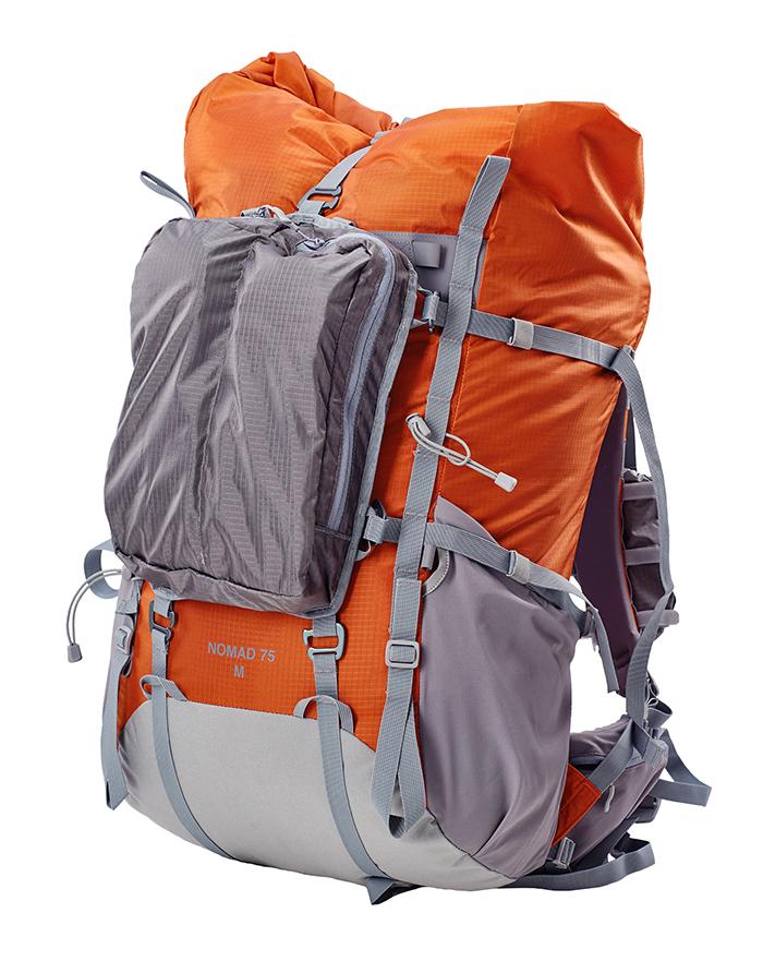БАСК Карман на фасад для NOMAD 90 1486Разные аксессуары<br>Съемный карман на молнии для рюкзака NOMAD 90.<br><br>Вес граммы: 110<br>Материал изготовления: 210D Robic® Double Rip UTS