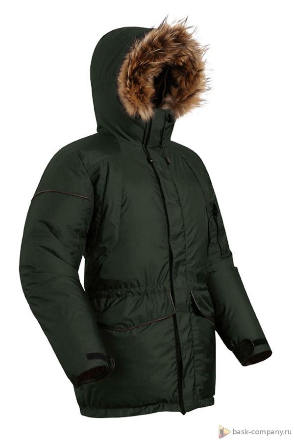 Пуховая куртка BASK ONTARIO 4706Классическая зимняя мужская куртка в стиле &amp;laquo;аляска&amp;raquo; будет оценена любителями приключений. Многофункциональная, лёгкая и тёплая может быть использована как в городе, так и за его пределами.<br><br>Верхняя ткань: Resist®<br>Вес граммы: 1750<br>Вес утеплителя: 353<br>Ветро-влагозащитные свойства верхней ткани: Да<br>Ветрозащитная планка: Да<br>Ветрозащитная юбка: Нет<br>Влагозащитные молнии: Нет<br>Внутренние манжеты: Нет<br>Внутренняя ткань: Resist-DT®<br>Водонепроницаемость: 3000<br>Дублирующий центральную молнию клапан: Да<br>Защитный козырёк капюшона: Нет<br>Капюшон: съемная опушка из меха крепится кнопками<br>Карман для средств связи: Да<br>Количество внешних карманов: 6<br>Количество внутренних карманов: 3<br>Мембрана: Resist<br>Объемный крой локтевой зоны: Да<br>Отстёгивающиеся рукава: Нет<br>Паропроницаемость: 3000<br>Показатель Fill Power (для пуховых изделий): 650<br>Пол: Муж.<br>Проклейка швов: Нет<br>Регулировка манжетов рукавов: Да<br>Регулировка низа: Да<br>Регулировка объёма капюшона: Да<br>Регулировка талии: Да<br>Регулируемые вентиляционные отверстия: Нет<br>Световозвращающая лента: Нет<br>Температурный режим: -25<br>Технология Thermal Welding: Нет<br>Технология швов: простые<br>Тип молнии: двухзамковая<br>Тип утеплителя: натуральный<br>Ткань усиления: нет<br>Усиление контактных зон: Нет<br>Утеплитель: гусиный пух
