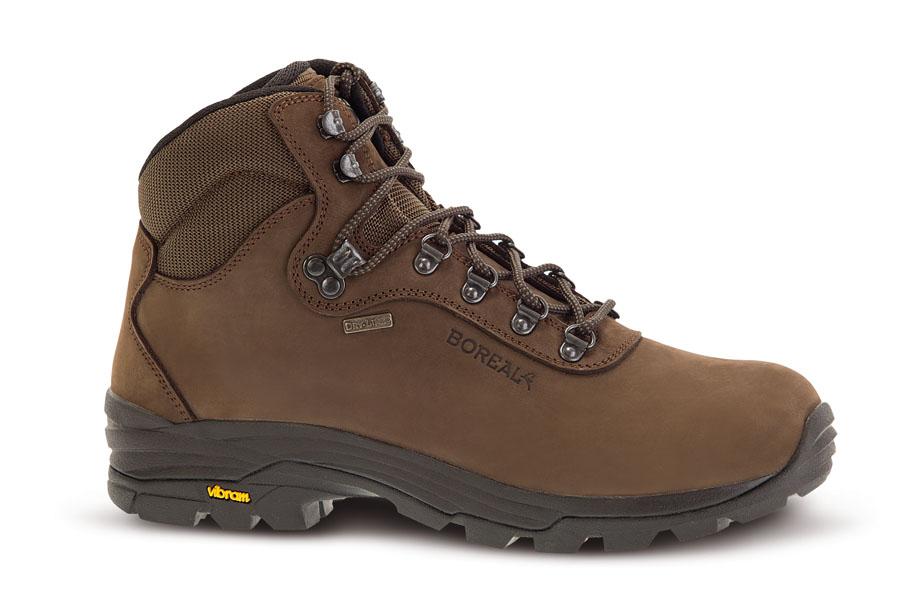 Ботинки Boreal POINTER B47113Треккинговые ботинки.<br><br>Вентиляция стельки: Нет<br>Вес пары размера 7 UK: 1215<br>Комплект поставки: ботинки, пропитка<br>Материал верха: водостойкий нубук 2,4 мм, Teramida<br>Мембрана: Система Boreal Dry-Line®<br>Подошва: Vibram Soropiss<br>Пол: Унисекс<br>Промежуточная подошва: Boreal PXF<br>Рант для крепления &quot;кошек&quot;: Нет<br>Режим эксплуатации: легкий треккинг, прогулки по лесу, охота<br>Система виброгашения: Нет<br>Система отвода влаги: Boreal Dry Line<br>Цельнокроеный верх: Нет<br>Размер RU: 45<br>Цвет: КОРИЧНЕВЫЙ