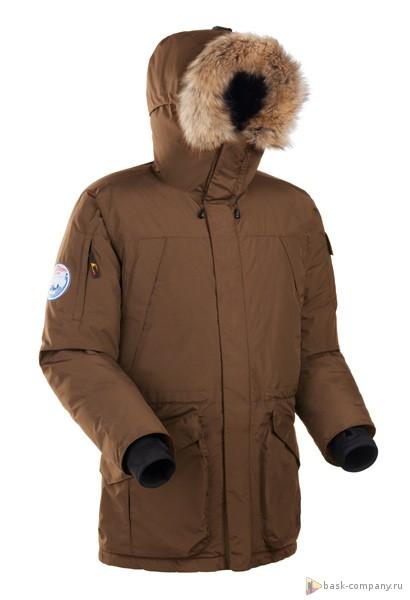 Пуховая куртка BASK ALASKA V2 5192AКуртки<br>Тёплая, но легкая зимняя пуховая куртка-аляска для суровой зимы.<br><br>Верхняя ткань: Nylon Supplex<br>Вес граммы: 1960<br>Вес утеплителя: 470<br>Ветро-влагозащитные свойства верхней ткани: Нет<br>Ветрозащитная планка: Да<br>Ветрозащитная юбка: Да<br>Влагозащитные молнии: Нет<br>Внутренние манжеты: Да<br>Внутренняя ткань: Advance® Classic<br>Водонепроницаемость: 3000<br>Дублирующий центральную молнию клапан: Да<br>Защитный козырёк капюшона: Нет<br>Капюшон: Несъемный<br>Карман для средств связи: Нет<br>Количество внешних карманов: 6<br>Количество внутренних карманов: 4<br>Мембрана: Nylon Supplex®<br>Объемный крой локтевой зоны: Да<br>Отстёгивающиеся рукава: Нет<br>Паропроницаемость: 3000<br>Показатель Fill Power (для пуховых изделий): 670<br>Проклейка швов: Нет<br>Регулировка манжетов рукавов: Нет<br>Регулировка низа: Да<br>Регулировка объёма капюшона: Да<br>Регулировка талии: Да<br>Регулируемые вентиляционные отверстия: Нет<br>Световозвращающая лента: Нет<br>Температурный режим: -30<br>Технология Thermal Welding: Нет<br>Технология швов: Простые<br>Тип молнии: Двухзамковая<br>Тип утеплителя: Натуральный<br>Ткань усиления: нет<br>Усиление контактных зон: Нет<br>Утеплитель: Гусиный пух<br>Размер RU: 54<br>Цвет: ГОЛУБОЙ