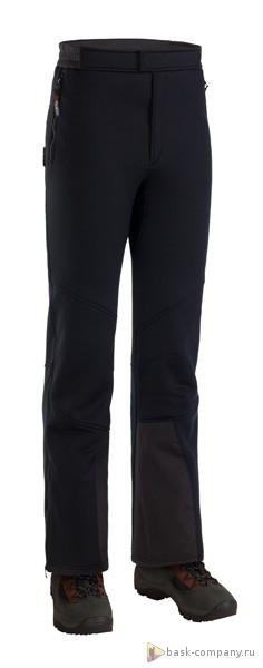 Брюки BASK BORA V3 8126bУниверсальные спортивные брюки из лёгкой и тёплой ветрозащитной ткани Polartec&amp;reg; Wind Pro&amp;reg;.<br><br>Верхняя ткань: Polartec Wind Pro<br>Вес граммы: 575<br>Влагозащитные молнии: Нет<br>Количество внешних карманов: 3<br>Объемный крой коленей: Да<br>Отстегивающийся задний клапан: Нет<br>Пол: Унисекс<br>Регулировка объема нижней части штанин: Нет<br>Регулировка пояса: Да<br>Регулируемые бретели: Нет<br>Регулируемые вентиляционные отверстия: Да<br>Самосбросы: Нет<br>Система крепления к нижней части брюк: Нет<br>Снегозащитные муфты: Нет<br>Съемные защитные вкладыши: Нет<br>Технология Thermal Welding: Нет<br>Тип шва: простые<br>Ткань усиления: Cordura<br>Усиление швов закрепками: Да<br>Функциональная молния спереди: Да<br>Размер INT: XXL<br>Цвет: ЧЕРНЫЙ