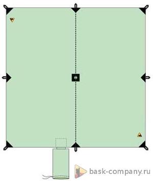 Туристический тент BASK CANOPY V3 3x3 3522Туристический тент&amp;nbsp;3х3 - укрытие для стоянки. В центре тента имеется карман для стойки, которую можно изготовить из подручных материалов.<br><br>Вес граммы: 920<br>Водостойкость: 3000<br>Материал: 75D Poly Taffeta 185T PU 3000 mm W/R<br>Наличие стакана под центральную стойку: Да<br>Оттяжки в комплекте: Да<br>Светоотражающие оттяжки: Да<br>Цвет: СИНИЙ