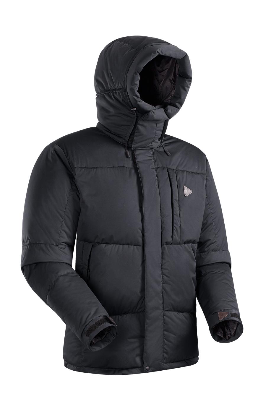 Пуховая куртка BASK AVALANCHE  LUXE 5452Куртки<br><br><br>Верхняя ткань: Advance® Lux<br>Вес граммы: 1650<br>Ветро-влагозащитные свойства верхней ткани: Да<br>Ветрозащитная планка: Да<br>Ветрозащитная юбка: Нет<br>Влагозащитные молнии: Нет<br>Внутренняя ткань: Advance® Classic<br>Водонепроницаемость: 10000<br>Дублирующий центральную молнию клапан: Да<br>Защитный козырёк капюшона: Нет<br>Капюшон: Съемный<br>Количество внешних карманов: 3<br>Количество внутренних карманов: 2<br>Коллекция: BASK CITY<br>Мембрана: Да<br>Объемный крой локтевой зоны: Нет<br>Отстёгивающиеся рукава: Нет<br>Паропроницаемость: 20000<br>Показатель Fill Power (для пуховых изделий): 600<br>Пол: Мужской<br>Проклейка швов: Нет<br>Регулировка манжетов рукавов: Да<br>Регулировка низа: Да<br>Регулировка объёма капюшона: Да<br>Регулировка талии: Нет<br>Регулируемые вентиляционные отверстия: Нет<br>Световозвращающая лента: Нет<br>Температурный режим: -15<br>Технология швов: Простые<br>Тип молнии: Двухзамковая<br>Тип утеплителя: Натуральный<br>Ткань усиления: Нет<br>Усиление контактных зон: Нет<br>Утеплитель: Гусиный пух<br>Размер RU: 46<br>Цвет: ЧЕРНЫЙ