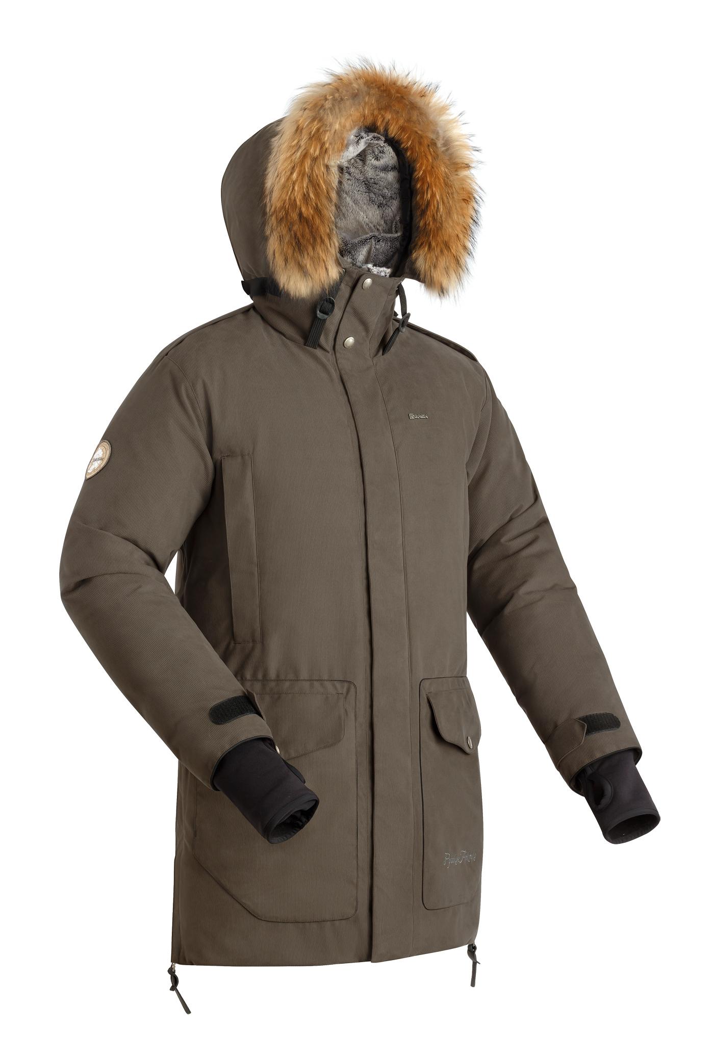 Пуховая куртка BASK PUTORANA V2 3774V2Куртки<br><br><br>Верхняя ткань: Advance® Alaska<br>Вес граммы: 2155<br>Вес утеплителя: 420<br>Ветрозащитная планка: Да<br>Ветрозащитная юбка: Нет<br>Внутренняя ткань: Advance® Classic<br>Капюшон: Несъемный<br>Количество внешних карманов: 6<br>Количество внутренних карманов: 2<br>Мембрана: Да<br>Показатель Fill Power (для пуховых изделий): 650<br>Регулировка манжетов рукавов: Да<br>Регулировка объёма капюшона: Да<br>Регулировка талии: Да<br>Температурный режим: -35<br>Технология швов: Простые<br>Тип молнии: Тракторная, двухзамковая<br>Тип утеплителя: Натуральный<br>Утеплитель: Гусиный пух 85%, Перо 15%, FP 650+, 420 г<br>Размер RU: 56<br>Цвет: НЕИЗВЕСТНЫЙ
