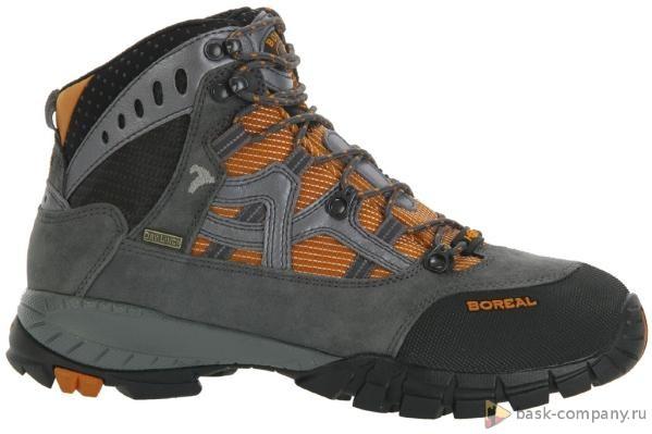 Ботинки Boreal YUROK b44930Легкие треккинговые ботинки из кожи<br><br>Вентиляция стельки: Да<br>Вес пары размера 7 UK: 1115<br>Материал верха: Высококачественная кожа  2мм с влагозащитной обработкой в комбинации с прочным материалом Teramida SL.<br>Мембрана: Sympatex<br>Подошва: Vibram Ananasi<br>Пол: Муж.<br>Промежуточная подошва: Boreal PXF<br>Размер (Россия): 38-45,5<br>Рант для крепления &quot;кошек&quot;: Нет<br>Режим эксплуатации: 2-3х сезонные ботинки для трекинга, горных походов, путешествий, пеших прогулок.<br>Система виброгашения: Да<br>Система отвода влаги: Boreal Dry Line<br>Цельнокроеный верх: Нет<br>Размер RU: 11.5<br>Цвет: СЕРЫЙ