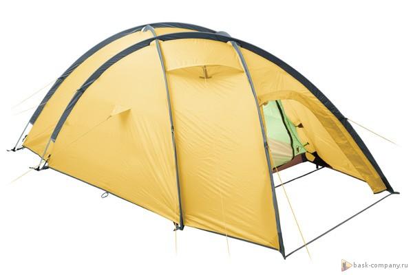 Палатка BASK FRIEND 3 3740Палатки<br><br><br>Вентиляционные окна: 2<br>Вес (в минимальной комплектации): 4<br>Вес (в полной комплектации): 4.35<br>Ветрозащитные юбки: Нет<br>Внутренние карманы и петельки для мелочей: Да<br>Водостойкость дна: 5000<br>Водостойкость тента: 3000<br>Диаметр стоек каркаса: 9.5<br>Количество входов: 1<br>Количество мест: 3<br>Количество оттяжек: 12<br>Количество стоек каркаса: 4<br>Материал внешнего тента: 40D Nylon RipStop 240T SI/PU 3 000 мм, W/R<br>Материал внутренней палатки: 40D Nylon Ripstop 240T BR, W/R<br>Материал дна: 70D Nylon Taffeta 210T PU 5 000 мм, W/R<br>Материал каркаса: Алюминиевый сплав 7001 T6<br>Назначение: Экстремальная<br>Обработка ткани палатки: Водоотталкивающая пропитка (W/R), дышащая<br>Обработка ткани тента: PU+SI (внутренняя поверхность покрыта полиуретаном, внешняя силиконом)<br>Подвесная полка: Да<br>Проклейка швов: Да<br>Противо москитная сетка: Да<br>Размер в упакованом виде: 50х20<br>Способ установки: Тент и внутренняя палатка устанавливаются одновременно<br>Тип входа: На молнии<br>Цвет: ЖЕЛТЫЙ