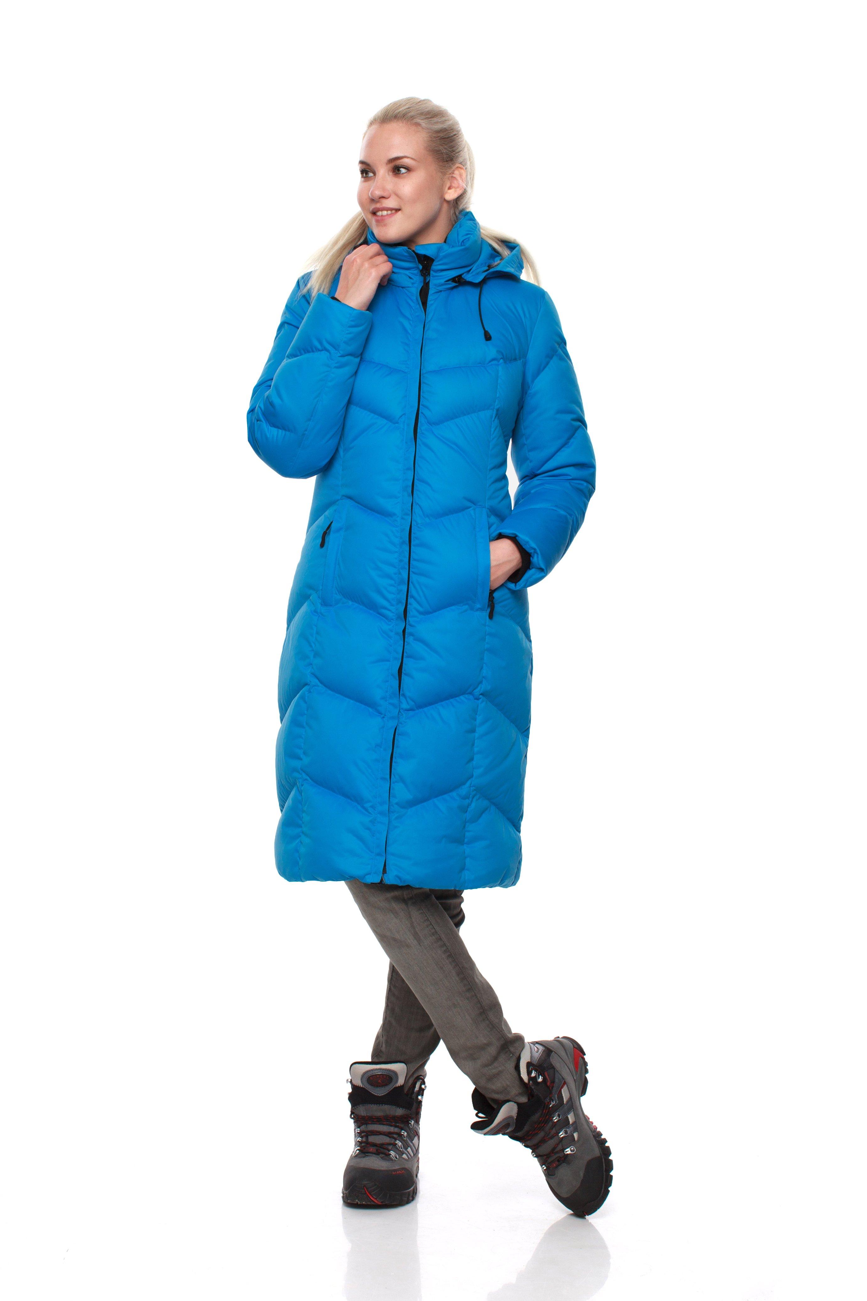 Пуховое пальто BASK SNOWFLAKE 5454Куртки<br><br><br>Верхняя ткань: Advance® Ice<br>Вес граммы: 1700<br>Вес утеплителя: 320<br>Ветро-влагозащитные свойства верхней ткани: Нет<br>Ветрозащитная планка: Да<br>Ветрозащитная юбка: Нет<br>Влагозащитные молнии: Нет<br>Внутренние манжеты: Да<br>Внутренняя ткань: Advance® Classic<br>Дублирующий центральную молнию клапан: Да<br>Защитный козырёк капюшона: Нет<br>Капюшон: Съемный<br>Карман для средств связи: Нет<br>Количество внешних карманов: 2<br>Количество внутренних карманов: 2<br>Коллекция: BASK CITY<br>Мембрана: Нет<br>Объемный крой локтевой зоны: Нет<br>Отстёгивающиеся рукава: Нет<br>Показатель Fill Power (для пуховых изделий): 700<br>Пол: Женский<br>Проклейка швов: Нет<br>Регулировка манжетов рукавов: Нет<br>Регулировка низа: Нет<br>Регулировка объёма капюшона: Нет<br>Регулировка талии: Нет<br>Регулируемые вентиляционные отверстия: Нет<br>Световозвращающая лента: Нет<br>Температурный режим: -15<br>Технология Thermal Welding: Нет<br>Технология швов: Простые<br>Тип молнии: Двухзамковая<br>Тип утеплителя: Натуральный<br>Усиление контактных зон: Нет<br>Утеплитель: Гусиный пух<br>Размер INT: M<br>Цвет: СИНИЙ