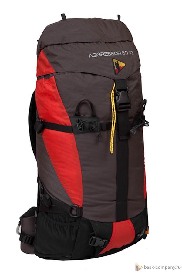 Рюкзак BASK AGGRESSOR 60 V2 3545Штурмовой рюкзак объемом 60 литров. Выгодно отличается многофункциональной навеской для снаряжения.<br><br>Анатомическая конструкция спины и ремней: Да<br>Вентиляция спины: Да<br>Вес граммы: 1700<br>Внутренние карманы: Да<br>Внутренняя перегородка: Нет<br>Возможность крепления сноуборда/скейтборда/лыж: Нет<br>Грудной фиксатор: Да<br>Карман для гидратора: Нет<br>Карман для средств связи: Нет<br>Карманы на поясе: Да<br>Клапан: съемный<br>Назначение: альпинистский<br>Накидка от дождя: Нет<br>Наружная навеска: навесная система позволяет крепить специальное снаряжение<br>Наружные карманы: Нет<br>Нижний вход: Нет<br>Объем л.: 60<br>Регулировка объема: Да<br>Регулировка угла наклона пояса: Нет<br>Светоотражающий кант: Нет<br>Система подвески: система подвески регулируется<br>Ткань: 210D DuPont Cordura® 2000 PU, сетка D-Mesh<br>Усиление: 1000D DuPont Cordura®, Hypalon™<br>Усиление дна: Да<br>Фурнитура: Duraflex®, YKK®