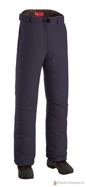 Пуховые брюки BASK MANARAGA 3780Зимние женские утепленные пухом брюки с износостойкой мембранной тканью. Отлично сочетаются с куртками из серии &amp;laquo;За Полярным Кругом&amp;raquo;.<br><br>Верхняя ткань: Advance® Alaska<br>Вес граммы: 985<br>Влагозащитные молнии: Нет<br>Влагонепроницаемость: 5000<br>Внутренняя ткань: Advance® Classic<br>Водонепроницаемость: 5000<br>Количество внутренних карманов: 2<br>Коллекция: Pole to Pole<br>Объемный крой коленей: Да<br>Отстегивающийся задний клапан: Нет<br>Паропроницаемость: 5000<br>Пол: Жен.<br>Регулировка объема нижней части штанин: Нет<br>Регулировка пояса: Да<br>Регулируемые бретели: Нет<br>Регулируемые вентиляционные отверстия: Нет<br>Самосбросы: Нет<br>Система крепления к нижней части брюк: Нет<br>Снегозащитные муфты: Да<br>Съемные защитные вкладыши: Нет<br>Температурный режим: -25<br>Технология Thermal Welding: Нет<br>Тип утеплителя: натуральный<br>Тип шва: простые<br>Усиление швов закрепками: Да<br>Утеплитель: гусиный пух<br>Функциональная молния спереди: Да<br>Размер INT: XS<br>Цвет: СИНИЙ