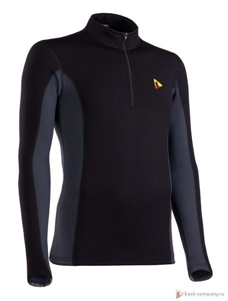 Куртка BASK T-SKIN MAN JACKET 3601Тёплая толстовка из ткани Polartec&amp;reg; Power Stretch&amp;reg; Pro. Ткань не вытягивается. Позиционируется как термобелье спортивное, облегает тело и не накапливает влагу.<br><br>Вес изделия: 270<br>Воротник: Да<br>Материал: Polartec® Power Stretch® Pro<br>Молнии: Да<br>Плотность ткани: 241<br>Пол: Муж.<br>Тип шва: плоский<br>Функциональная задняя молния: Нет<br>Размер INT: L<br>Цвет: ЧЕРНЫЙ