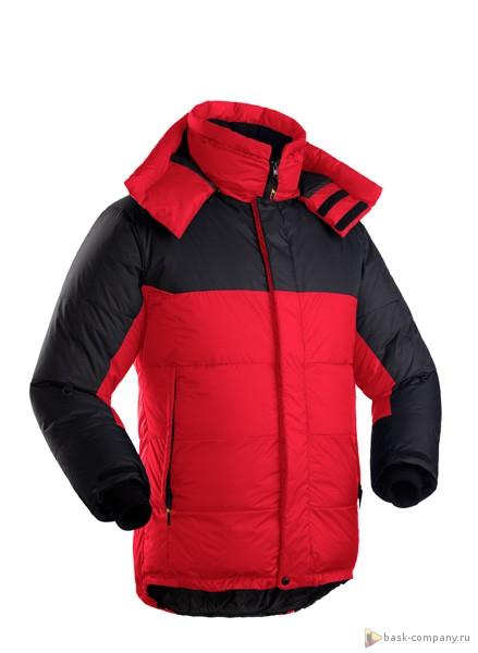 Пуховая куртка BASK KHAN TENGRI V6 3324BКуртки<br><br><br>&quot;Дышащие&quot; свойства: Да<br>Верхняя ткань: Advance® Ecliptic<br>Вес граммы: 1350<br>Вес утеплителя: 580<br>Ветро-влагозащитные свойства верхней ткани: Нет<br>Ветрозащитная планка: Да<br>Ветрозащитная юбка: Да<br>Влагозащитные молнии: Нет<br>Внутренние манжеты: Да<br>Внутренняя ткань: Advance® Classic<br>Водонепроницаемость: 1000<br>Дублирующий центральную молнию клапан: Да<br>Защитный козырёк капюшона: Нет<br>Капюшон: Съемный<br>Карман для средств связи: Да<br>Количество внешних карманов: 3<br>Количество внутренних карманов: 2<br>Мембрана: Advance MPC<br>Объемный крой локтевой зоны: Да<br>Отстёгивающиеся рукава: Нет<br>Паропроницаемость: 7000<br>Показатель Fill Power (для пуховых изделий): 700<br>Пол: Мужской<br>Проклейка швов: Нет<br>Регулировка манжетов рукавов: Да<br>Регулировка низа: Да<br>Регулировка объёма капюшона: Да<br>Регулировка талии: Да<br>Регулируемые вентиляционные отверстия: Нет<br>Световозвращающая лента: Нет<br>Температурный режим: -35<br>Технология Thermal Welding: Нет<br>Технология швов: Теплые и закрытые<br>Тип молнии: Двухзамковая<br>Тип утеплителя: Натуральный<br>Ткань усиления: Advance® Ecliptic<br>Усиление контактных зон: Да<br>Утеплитель: Гусиный пух<br>Размер RU: 54<br>Цвет: КРАСНЫЙ