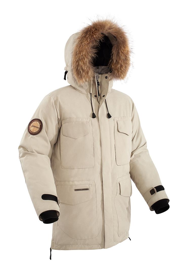 Куртка BASK TAIMYR V2 3773V2Куртки<br><br><br>&quot;Дышащие&quot; свойства: Да<br>Верхняя ткань: Advance® Alaska<br>Вес граммы: 2550<br>Вес утеплителя: 430<br>Ветро-влагозащитные свойства верхней ткани: Да<br>Ветрозащитная планка: Да<br>Ветрозащитная юбка: Да<br>Влагозащитные молнии: Нет<br>Внутренние манжеты: Да<br>Внутренняя ткань: Advance® Classic<br>Водонепроницаемость: 5000<br>Дублирующий центральную молнию клапан: Да<br>Защитный козырёк капюшона: Нет<br>Капюшон: Несъемный<br>Карман для средств связи: Да<br>Количество внешних карманов: 9<br>Количество внутренних карманов: 2<br>Коллекция: Pole to Pole<br>Мембрана: Да<br>Объемный крой локтевой зоны: Да<br>Отстёгивающиеся рукава: Нет<br>Паропроницаемость: 5000<br>Показатель Fill Power (для пуховых изделий): 650<br>Пол: Мужской<br>Проклейка швов: Нет<br>Регулировка манжетов рукавов: Да<br>Регулировка низа: Нет<br>Регулировка объёма капюшона: Да<br>Регулировка талии: Да<br>Регулируемые вентиляционные отверстия: Нет<br>Световозвращающая лента: Нет<br>Температурный режим: -40<br>Технология Thermal Welding: Нет<br>Технология швов: Простые<br>Тип молнии: Двухзамковая<br>Тип утеплителя: Натуральный<br>Ткань усиления: Нет<br>Усиление контактных зон: Да<br>Утеплитель: Гусиный пух<br>Размер RU: 52<br>Цвет: БЕЖЕВЫЙ