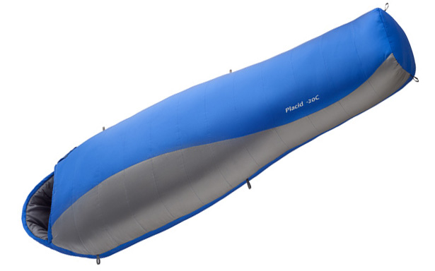 Спальный мешок BASK PLACID  M 5974Самый популярный спальный мешок в форме кокона с двумя слоями утеплителя Thermolite&amp;reg; Extra для экстремальных условий.<br><br>Верхняя ткань: Nylon 30D Diamond Rip stop<br>Вес без упаковки: 1440<br>Вес упаковки: 100<br>Внутренняя ткань: Pongee®<br>Количество слоев утеплителя: 2<br>Назначение: туристический<br>Наличие карманов: Да<br>Наполнитель: синтетический<br>Нижняя температура комфорта °C: 1<br>Подголовник/Капюшон: Да<br>Пол: унисекс<br>Размер в упакованном виде (диаметр х длина): 22x45<br>Размеры наружные (внутренние): 215х192х80х55<br>Система расположения слоев утеплителя или пуховых пакетов: продольная<br>Температура комфорта °C: 6<br>Тесьма вдоль планки: Да<br>Тип молнии: двухзамковая-разъёмная<br>Тип утеплителя: синтетический<br>Утеплитель: Thermolite Extra (Dupont)<br>Утепляющая планка: Да<br>Форма: кокон<br>Шейный пакет: Да<br>Экстремальная температура °C: -14<br>Размер INT: L<br>Цвет: СИНИЙ
