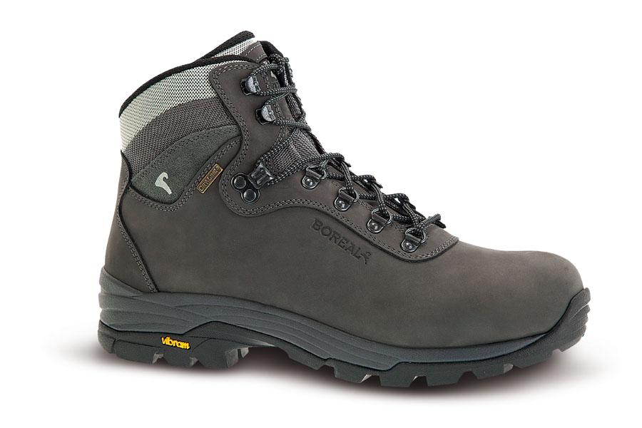 Ботинки Boreal ORDESA GREY b47011Треккинговые ботинки.<br><br>Вентиляция стельки: Нет<br>Вес пары размера 7 UK: 1250<br>Материал верха: 2,4 мм влагостойкий нубук<br>Мембрана: Система Boreal Dry-Line®<br>Подошва: Vibram Soropiss<br>Пол: Муж.<br>Промежуточная подошва: Boreal PXF<br>Рант для крепления &quot;кошек&quot;: Нет<br>Режим эксплуатации: 2-3 сезонный треккинг.<br>Система виброгашения: Да<br>Система отвода влаги: Boreal Dry Line<br>Утеплитель: нет<br>Цельнокроеный верх: Да<br>Цвет: НЕИЗВЕСТНЫЙ
