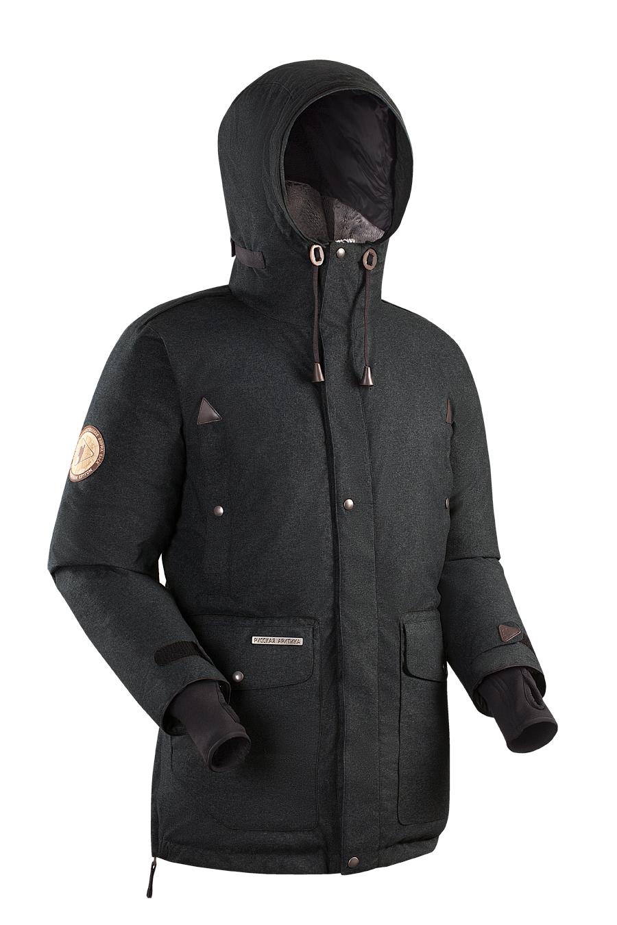 Пуховая куртка BASK PUTORANA SOFT 3774aМужская зимняя пуховая куртка-парка PUTORANA SOFT c мембранной тканью и температурным режимом -35 &amp;deg;С.<br><br>Верхняя ткань: Advance® Alaska Soft Melange<br>Вес граммы: 1920<br>Вес утеплителя: 400<br>Ветро-влагозащитные свойства верхней ткани: Да<br>Ветрозащитная планка: Да<br>Ветрозащитная юбка: Нет<br>Влагозащитные молнии: Нет<br>Внутренние манжеты: Да<br>Внутренняя ткань: Advance® Classic<br>Водонепроницаемость: 10000<br>Дублирующий центральную молнию клапан: Да<br>Защитный козырёк капюшона: Нет<br>Капюшон: несъемный<br>Карман для средств связи: Нет<br>Количество внешних карманов: 8<br>Количество внутренних карманов: 2<br>Мембрана: да<br>Объемный крой локтевой зоны: Нет<br>Отстёгивающиеся рукава: Нет<br>Паропроницаемость: 5000<br>Показатель Fill Power (для пуховых изделий): 650<br>Пол: Муж.<br>Проклейка швов: Нет<br>Регулировка манжетов рукавов: Да<br>Регулировка низа: Нет<br>Регулировка объёма капюшона: Да<br>Регулировка талии: Да<br>Регулируемые вентиляционные отверстия: Нет<br>Световозвращающая лента: Нет<br>Температурный режим: -35<br>Технология Thermal Welding: Нет<br>Технология швов: простые<br>Тип молнии: двухзамковая<br>Ткань усиления: нет<br>Усиление контактных зон: Нет<br>Утеплитель: гусиный пух<br>Размер RU: 56<br>Цвет: СЕРЫЙ