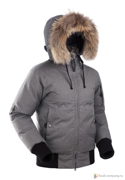 Пуховая куртка BASK YGRA SOFT 3779aЖенская короткая куртка для города в стиле бомбер с верхней мембранной тканью Advance&amp;reg; Alaska Soft Melange, утепленная высококачественным гусиным пухом.<br><br>Верхняя ткань: Advance® Alaska Soft Melange<br>Вес граммы: 1560<br>Вес утеплителя: 380<br>Ветро-влагозащитные свойства верхней ткани: Да<br>Ветрозащитная планка: Да<br>Ветрозащитная юбка: Нет<br>Влагозащитные молнии: Нет<br>Внутренние манжеты: Нет<br>Внутренняя ткань: Advance® Classic<br>Водонепроницаемость: 10000<br>Дублирующий центральную молнию клапан: Нет<br>Защитный козырёк капюшона: Нет<br>Капюшон: несъемный<br>Карман для средств связи: Нет<br>Количество внешних карманов: 3<br>Количество внутренних карманов: 2<br>Мембрана: да<br>Объемный крой локтевой зоны: Да<br>Отстёгивающиеся рукава: Нет<br>Паропроницаемость: 5000<br>Показатель Fill Power (для пуховых изделий): 650<br>Пол: Жен.<br>Проклейка швов: Нет<br>Регулировка манжетов рукавов: Нет<br>Регулировка низа: Нет<br>Регулировка объёма капюшона: Да<br>Регулировка талии: Нет<br>Регулируемые вентиляционные отверстия: Нет<br>Световозвращающая лента: Нет<br>Температурный режим: -25<br>Технология Thermal Welding: Нет<br>Технология швов: простые<br>Тип молнии: Двухзамковая сверхпрочная №8<br>Тип утеплителя: натуральный<br>Ткань усиления: нет<br>Усиление контактных зон: Нет<br>Утеплитель: гусиный пух<br>Размер INT: XS<br>Цвет: СЕРЫЙ