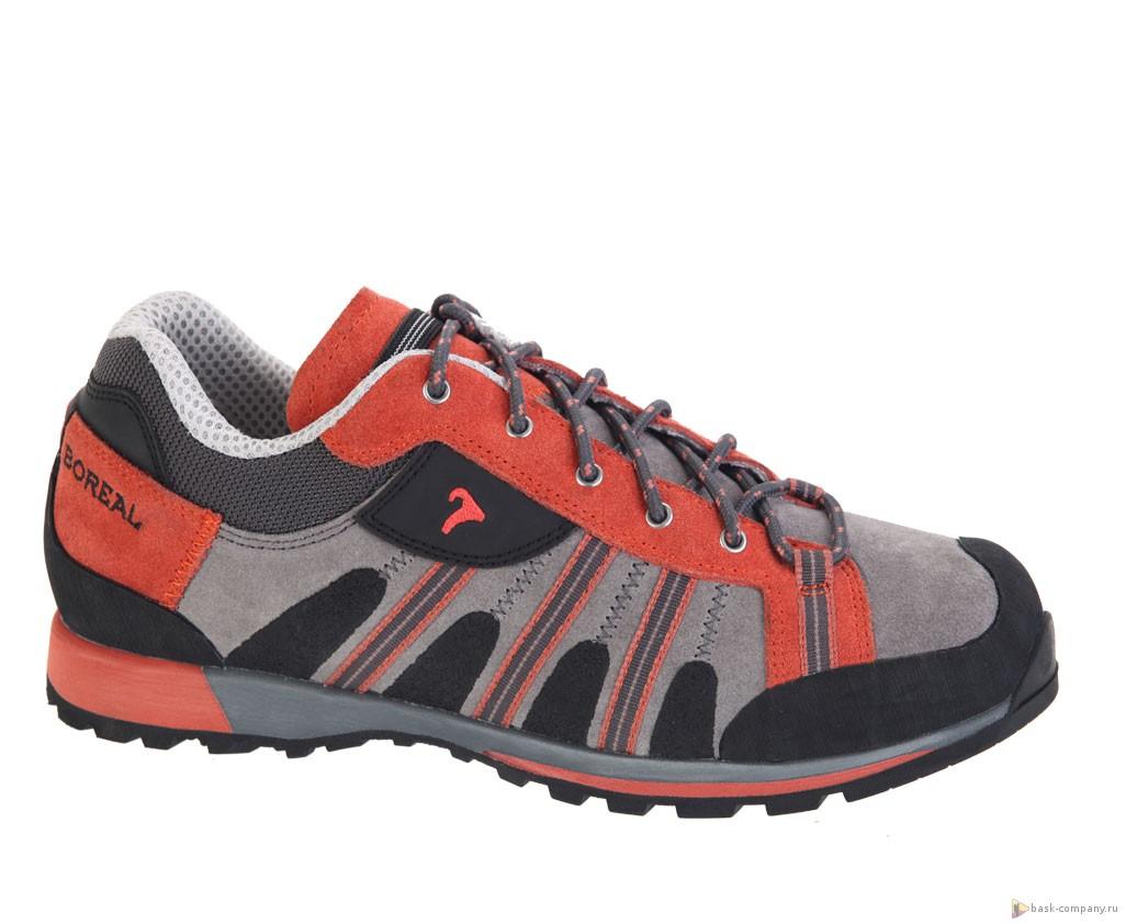 Кроссовки Boreal GRAVITY LADY B32078Обувь<br>Женские кроссовки для подходов под скальные маршруты, несложного лазания, прогулок по пересеченной местности, повседневного использования в городе.<br><br>Вентиляция стельки: Нет<br>Материал верха: Кожа 2мм и Teramida SL<br>Мембрана: нет<br>Подошва: Vibram Friction<br>Промежуточная подошва: Boreal PXF<br>Рант для крепления &quot;кошек&quot;: Нет<br>Режим эксплуатации: Подходы к маршрутам, несложное лазание<br>Система виброгашения: Нет<br>Утеплитель: Нет<br>Цельнокроеный верх: Нет
