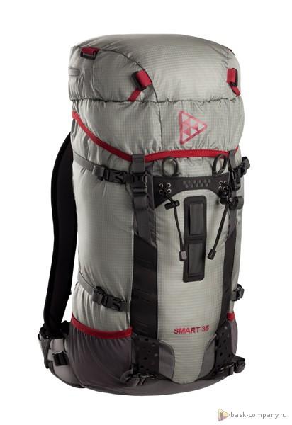 Рюкзак BASK SMART 35 4016aАльпинистский рюкзак объёмом 35л. Предусмотрен съемный пластиковый каркас оригинальной формы.<br><br>Анатомическая конструкция спины и ремней: Да<br>Вентиляция спины: Нет<br>Вес граммы: 1080<br>Внутренние карманы: Да<br>Внутренняя перегородка: Нет<br>Возможность крепления сноуборда/скейтборда/лыж: Нет<br>Габариты: 54х32х16 см<br>Грудной фиксатор: Да<br>Карман для гидратора: Да<br>Карман для средств связи: Нет<br>Карманы на поясе: Нет<br>Клапан: несъемный<br>Назначение: альпинистский<br>Накидка от дождя: Нет<br>Наружная навеска: навесная система позволяет крепить специальное снаряжение<br>Наружные карманы: Нет<br>Нижний вход: Нет<br>Объем л.: 35<br>Регулировка объема: Да<br>Регулировка угла наклона пояса: Да<br>Светоотражающий кант: Нет<br>Система подвески: система подвески регулируется<br>Ткань: 100D Robic® Triple Rip 2000 мм Н2О UTS<br>Усиление: 210Dx420D Robic® Kodra<br>Усиление дна: Да<br>Фурнитура: Duraflex<br>Цвет: СЕРЫЙ