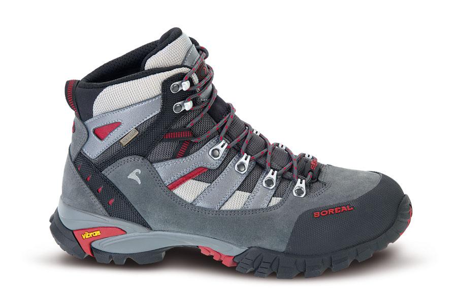 Ботинки Boreal KLAMATH BS44862Треккинговые ботинки для несложных походов, прогулок по пересеченной местности и путешествий.<br><br>Вес пары размера 7 UK: 1180<br>Материал верха: 2-миллиметровая водонепроницаемая кожа премиум качества со вставкой из Teramida SL<br>Мембрана: Система Boreal Dry-Line®<br>Подошва: Vibram Nuasi<br>Пол: Муж.<br>Промежуточная подошва: Boreal PXF<br>Размер (Россия): 6 - 12 U.K. (включая полуразмеры)<br>Режим эксплуатации: легкий треккинг, походы, прогулки по пересеченной местности, путешествия<br>Система виброгашения: Да<br>Размер RU: 38.5<br>Цвет: СЕРЫЙ