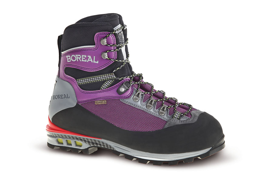 Ботинки Boreal TRIGLAV VIBRAM LADY B47241Женские 3-4 сезонные ботинки для альпинизма, технически сложных походов.<br><br>Вес пары размера 7 UK: 1323<br>Мембрана: Boreal Dry-Line®<br>Подошва: Vibram® New Mulaz<br>Пол: Жен.<br>Промежуточная подошва: Boreal PBG-650<br>Рант для крепления &quot;кошек&quot;: Да<br>Режим эксплуатации: Альпинистские маршруты, сложный треккинг<br>Система отвода влаги: Boreal Dry-Line®<br>Утеплитель: Не применимо<br>Цельнокроеный верх: Нет<br>Размер RU: 38.5<br>Цвет: ФИОЛЕТОВЫЙ