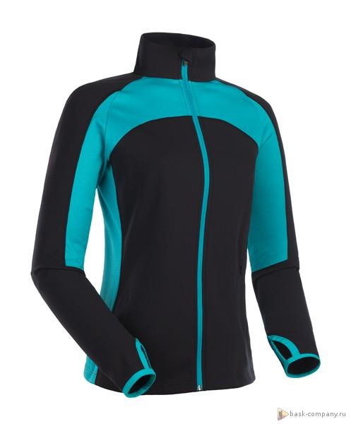 Куртка BASK CARYATID LJ 1450Флисовые куртки<br>Женская спортивная куртка для спорта и отдыха. Отводит влагу от тела и быстро высыхает. Мягкий ворс обеспечивает комфорт и тепло. Эластичные вставки из DryClim® для вентиляции и свободы движений. Подходит для занятий фитнесом в прохладную погоду и для повседневной носки.<br><br>Боковые карманы: 1<br>Вес граммы: 250<br>Ветрозащитная планка: Нет<br>Внутренние карманы: Нет<br>Материал: Pike Stretch 190 г/м2 + DryClim® Stretch 212 г/м2 100% Polyester<br>Нагрудные карманы: Нет<br>Пол: Женский<br>Регулировка вентиляции: Нет<br>Регулировка низа: Нет<br>Регулируемые вентиляционные отверстия: Нет<br>Тип молнии: Однозамковая<br>Усиление контактных зон: Нет<br>Размер INT: S<br>Цвет: ЧЕРНЫЙ