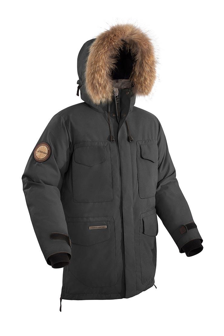 Куртка BASK VANKOREM V2 1475V2Куртки<br>Новая версия теплой функциональной куртки из коллекции За Полярным кругом. Куртка утеплена синтетическим утеплителем Shelter® Sport (400 г/м?), обеспечивает великолепную защиту от холода при низких температурах. Плотная верхняя ткань с мембраной и влагозащитной обработкой защитит от ветра и снега. Большое количество внутренних и внешних карманов, дополнительные потайные карманы. Кожаные вставки и элементы фурнитуры, застежки с магнитами. Высокие теплоизоляционные свойства. Внутренняя часть капюшона из мягкого флиса. Основное назначение: полярные экспедиции, путешествия, город.Внимание! Цена на куртку указана без стоимости опушки. Вы можете заказать опушку отдельно.Последние изменения:1.Добавлены теплые нагрудные карманы на молнии.2.Убрали карман с рукава3.Изменили нижний карман – теперь он с верхним входом под клапаном.4.Липучки на центральных планках и клапанах карманов заменены на магнитные застежки.5.Изменена лицевая стяжка капюшона - на резиновый шнур, проходящий через туннель вдоль центральной застёжки и пластиковые зажимы.6.Убрали паты стяжки спинки по талии, добавили стяжку по спинке на резиновый шнур и зажимы.<br><br>&quot;Дышащие&quot; свойства: Да<br>Верхняя ткань: Advance® Alaska<br>Вес граммы: 2680<br>Вес утеплителя: 400<br>Ветро-влагозащитные свойства верхней ткани: Да<br>Ветрозащитная планка: Нет<br>Ветрозащитная юбка: Да<br>Влагозащитные молнии: Нет<br>Внутренние манжеты: Да<br>Внутренняя ткань: Advance® Classic<br>Водонепроницаемость: 5000<br>Дублирующий центральную молнию клапан: Да<br>Защитный козырёк капюшона: Нет<br>Капюшон: Несъемный<br>Карман для средств связи: Да<br>Количество внешних карманов: 9<br>Количество внутренних карманов: 2<br>Мембрана: Да<br>Объемный крой локтевой зоны: Да<br>Отстёгивающиеся рукава: Нет<br>Паропроницаемость: 5000<br>Показатель Fill Power (для пуховых изделий): Нет<br>Проклейка швов: Нет<br>Регулировка манжетов рукавов: Да<br>Регулировка низа: Нет<br>Регулировка объёма капюшона: