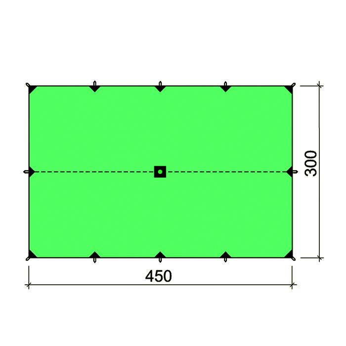 Туристический тент БАСК CANOPY SILICONE  3*4,5 3523SТенты<br><br><br>Вес граммы: 725<br>Водостойкость: 4000<br>Габариты упаковки: 40x19x5<br>Коллекция: Outdoor Spirit<br>Материал: 30D Nylon Ripstop Si/Si 4000 mm 43 г/м2<br>Оттяжки в комплекте: Нет<br>Размеры: 300x450<br>Ремкомплект: Нет<br>Цвет: ЗЕЛЕНЫЙ