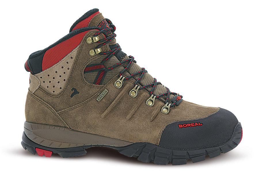 Ботинки Boreal YUCATAN B44850Легкие треккинговые ботинки.<br><br>Вентиляция стельки: Да<br>Вес пары размера 7 UK: 1120<br>Материал верха: Высококачественная кожа  2мм с влагозащитной обработкой в комбинации с прочным материалом Teramida SL.<br>Мембрана: Sympatex<br>Подошва: Vibram Ananasi<br>Пол: Унисекс<br>Промежуточная подошва: Boreal PXF<br>Рант для крепления &quot;кошек&quot;: Нет<br>Режим эксплуатации: 2-3х сезонные ботинки для трекинга, горных походов, путешествий, пеших прогулок.<br>Система виброгашения: Да<br>Система отвода влаги: Boreal Dry Line<br>Цельнокроеный верх: Нет<br>Размер RU: 40<br>Цвет: КОРИЧНЕВЫЙ