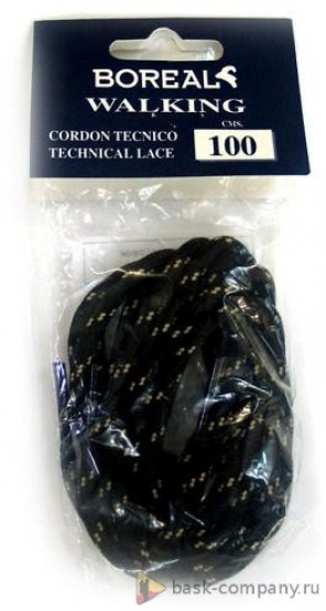 Шнурки для кроссовок Boreal WALK черный/бежевый 1м B601Прочные шнурки для кроссовок.<br><br>Материал изготовления: Полиамид<br>Размеры: 100